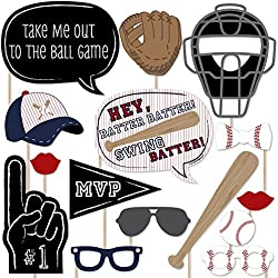 Big Dot of Happiness Batter Up - Baseball Photo Booth Props Kit - 20 Count