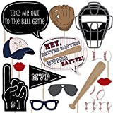Batter Up - Baseball Photo Booth Props Kit - 20 Count