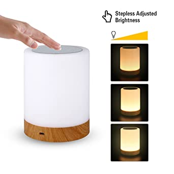 LED Nachttischlampe Nachtlicht Leseleuchte Dimmbar RGB Tischlampe Touch-Sensor