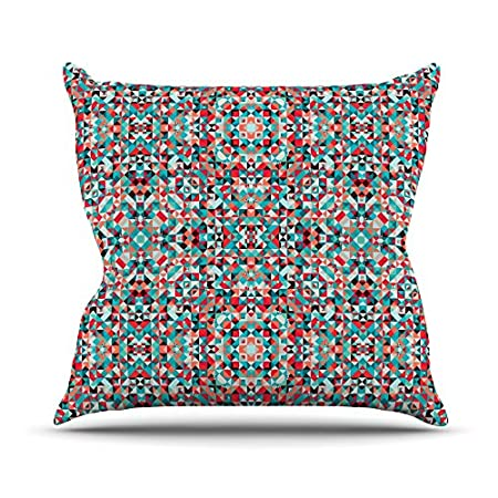 Kess InHouse Allison Soupcoff Tart Throw Pillow 18 x 18 Red Teal