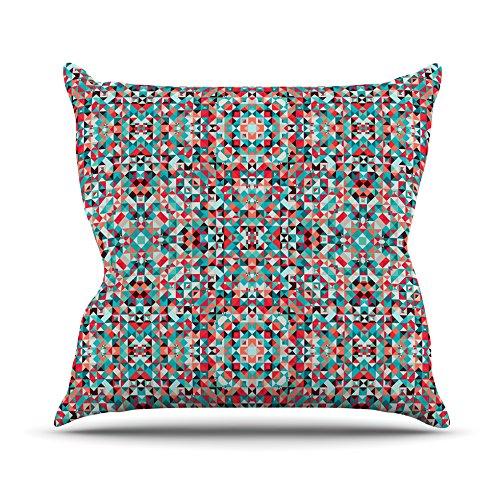 Red Teal Kess InHouse Allison Soupcoff Tart Throw Pillow 16 by 16