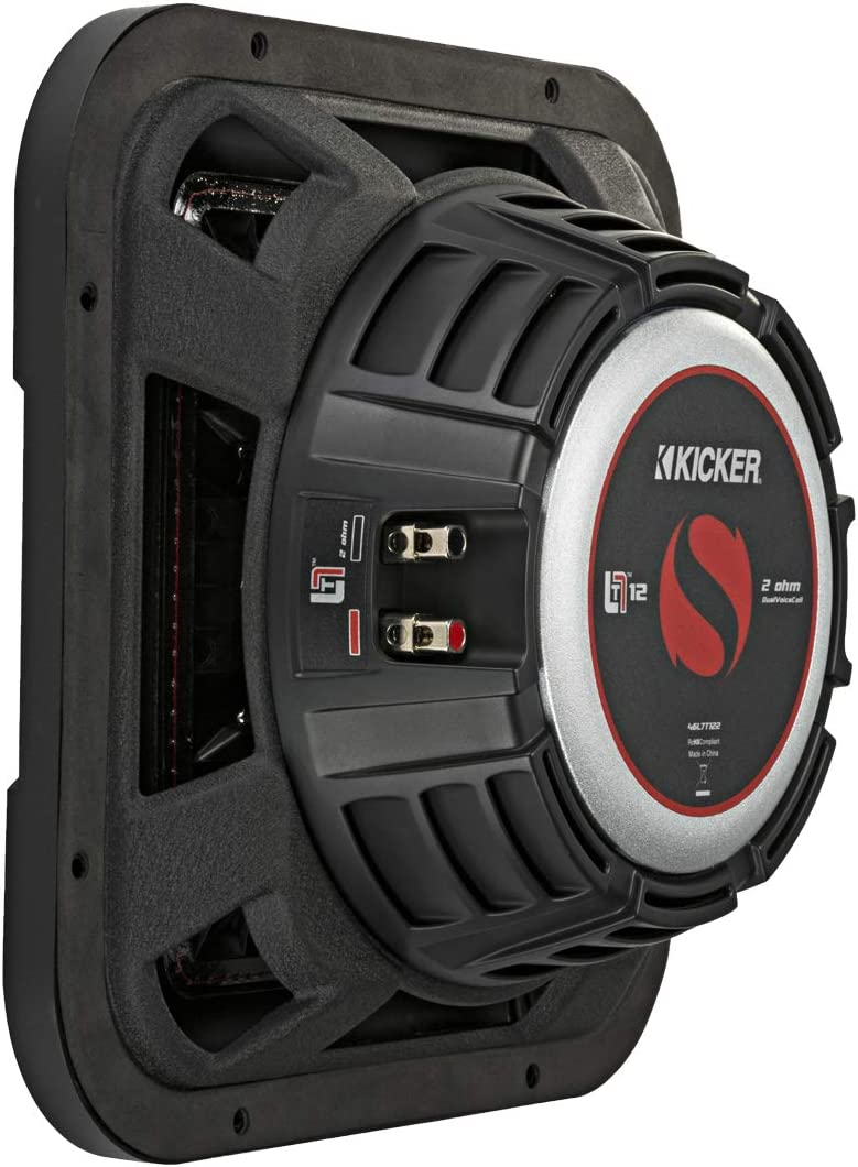 Kicker 46L7T104 Car Audio L7T Shallow Mount 10 Sub Square L7 Subwoofer L7T104