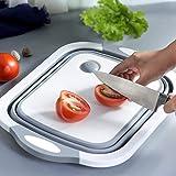 LIOMES Cutting Chopping Board/Washing Bowl,Fruit Vegetable Basket (Multipurpose)(Random Color) (3 in 1 Chopping Board)