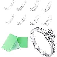 غير مرئية حجم حلقة ضبط لخاتم فضفاض حلقة ضبط حجم تناسب خواتم رقيقة مع قماش تلميع المجوهرات