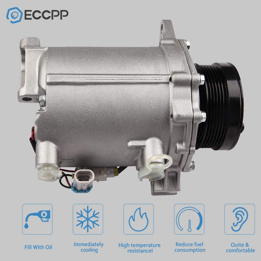 ECCPP AC Compressor with Clutch Replacement for 2000-2005 Cadillac DeVille 2001-2003 Oldsmobile Aurora