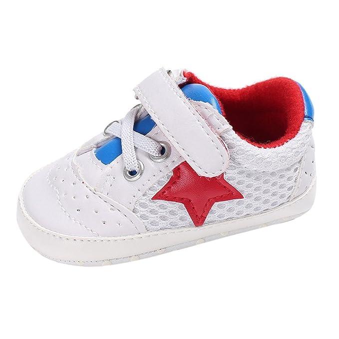 cb287b6c9 SamMoSon Ropa para bebés niño Primeros Zapatos para niñas Zapatos De Bebe  Niña Cuna Recien Nacido Zapatillas De Suela Suave  Amazon.es  Ropa y  accesorios