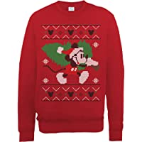 Brands In Limited Mickey Mouse Christmas Tree Sudadera para Mujer