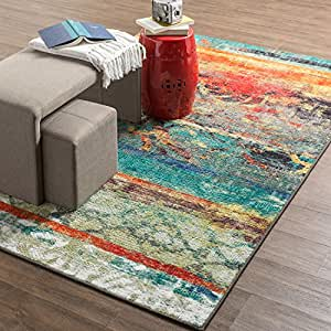 Amazon.com: Mohawk Home Strata Eroded Distressed Abstract