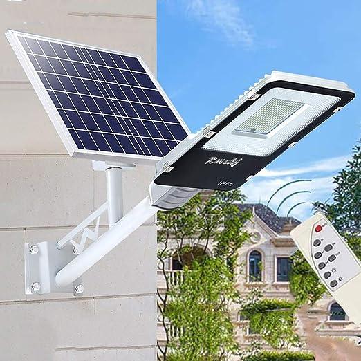50W-400W Luz Solar Exterior Jardin Farola Solar Exterior IP65 Impermeable Lámpara LED De Alto Brillo Con Sincronización De Control Remoto Jardín Canalón Arena Área De Seguridad Iluminación ,50W: Amazon.es: Hogar