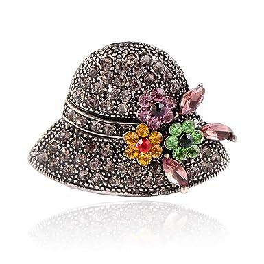 8ceb32da985a Gysad Broches Forma de sombrero Broches para ropa mujer Exquisito y encantador  Broches de bisuteria baratos