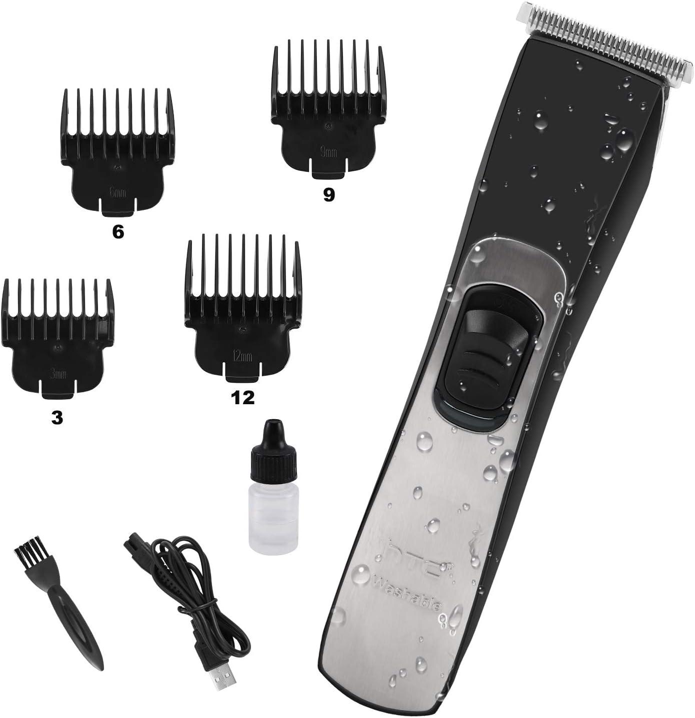 Máquina Cortar Pelo Profesional Cortapelos Hombre Recortadora Barba y Cortadora de Pelo con 4 Peines Guía (IPX7 Impermeable & USB Carga Rápida)