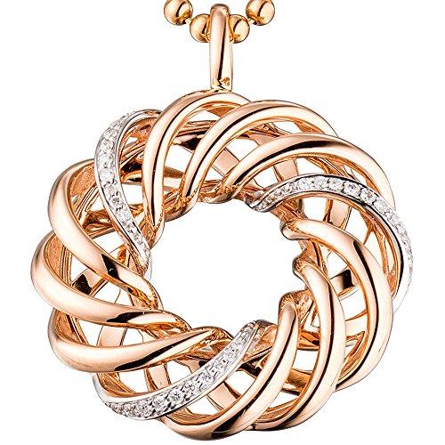 JOBO pendentif en or rose 585 30 0,14ct. diamantanhänger diamants brillants