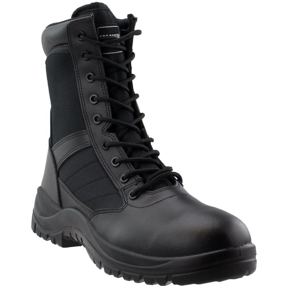 Magnum Men's Panther 8.0 Side Zip Military and Tactical Boot, Black, 11 D US