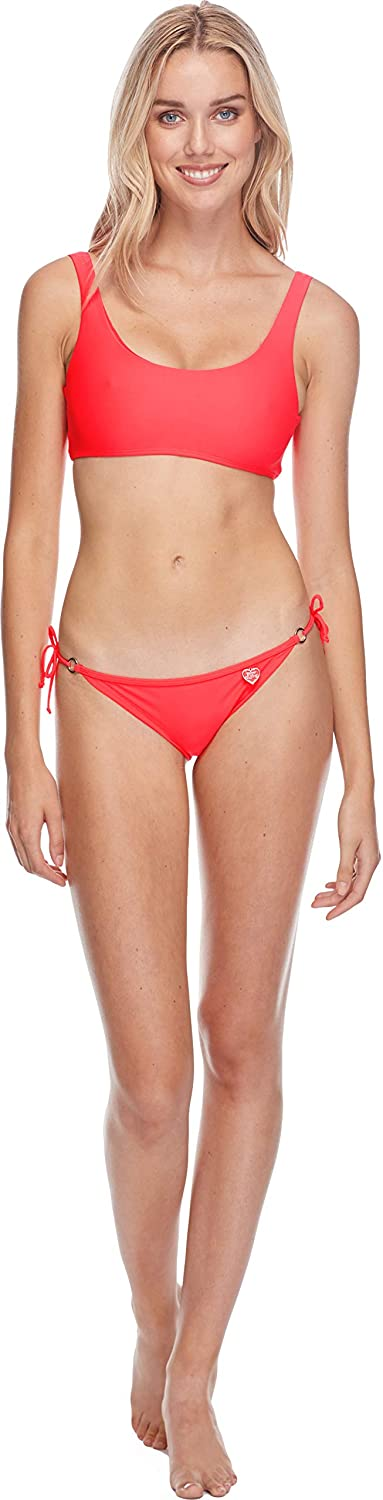 Body Glove Womens Smoothies Gwen Solid Back to Front Bikini Top Swimsuit 3950619A