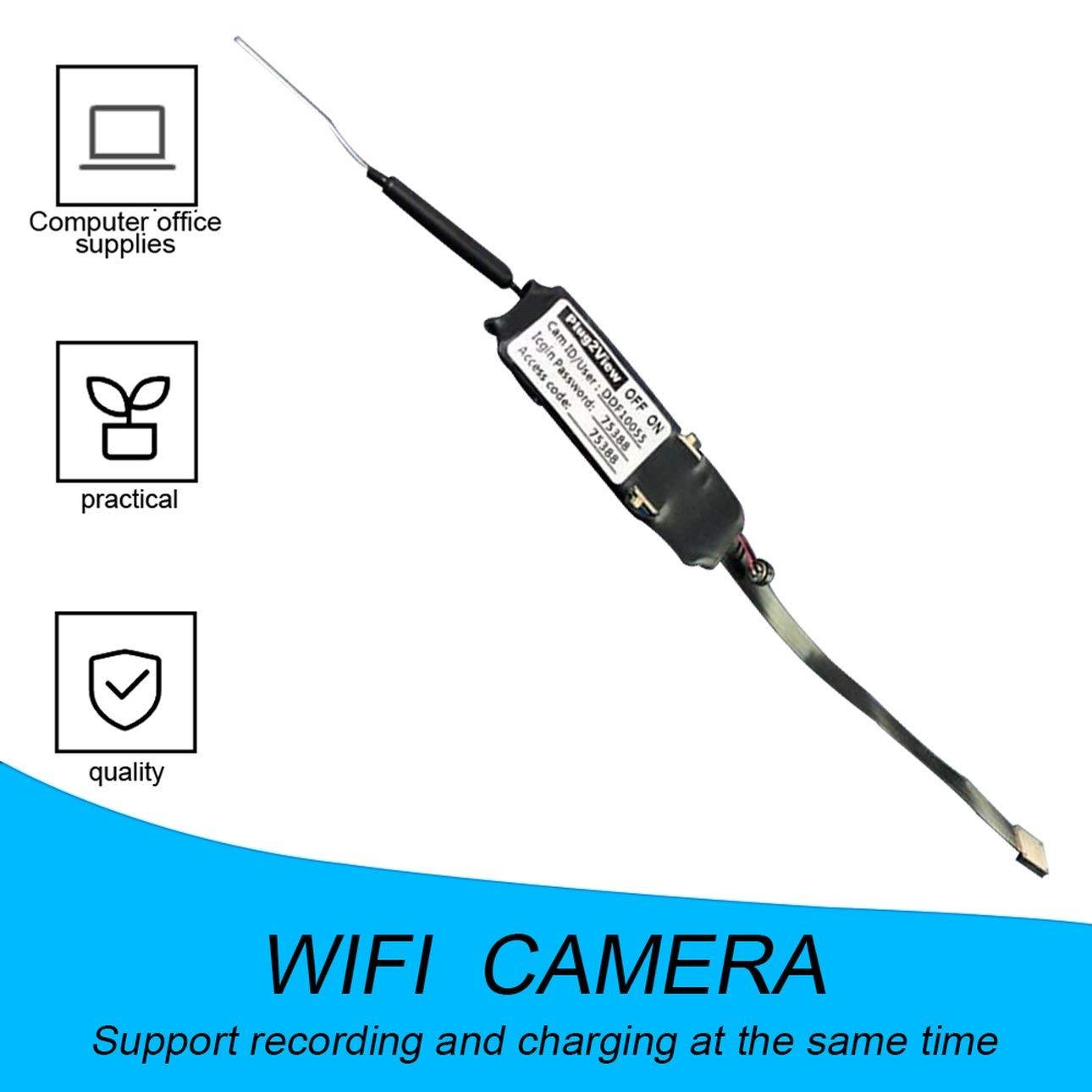 Ballylelly C/ámara de ni/ñera inal/ámbrica Mini Micro DVR WIFI IP Pinhole C/ámara de video digital WIFI C/ámara de alta definici/ón