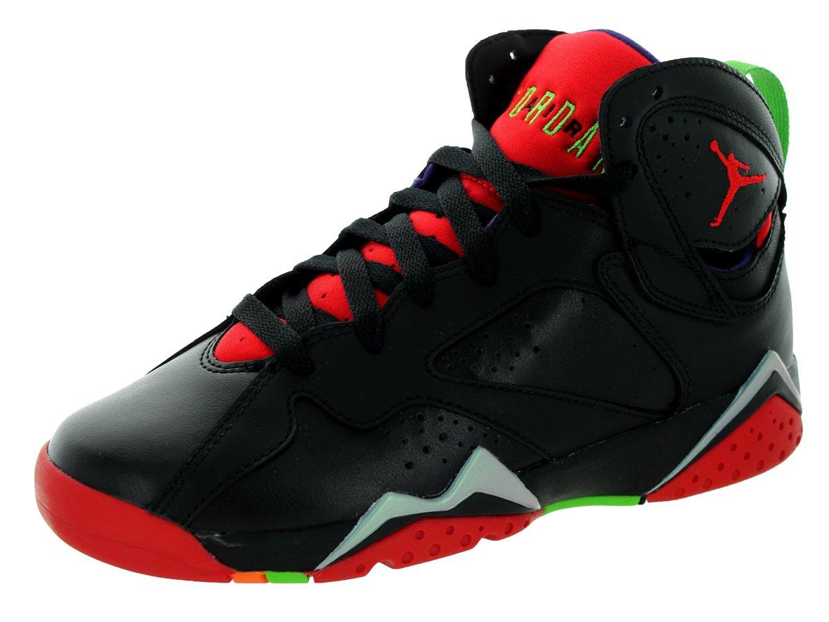 Jordan Air 7 Retro BG Boys Sneakers 304774-034 B005ANCWBW 4.5 M US Black/University Red/Grn Pls/Cl Gry