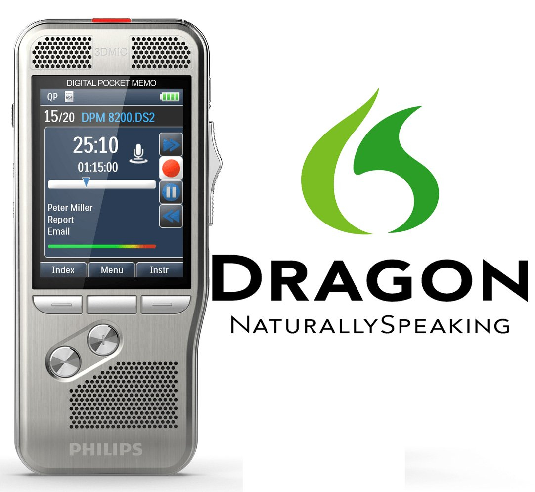 Philips DPM-8000 Digital Pocket Memo with Integrated Nuance Dragon Speech Recognition Software