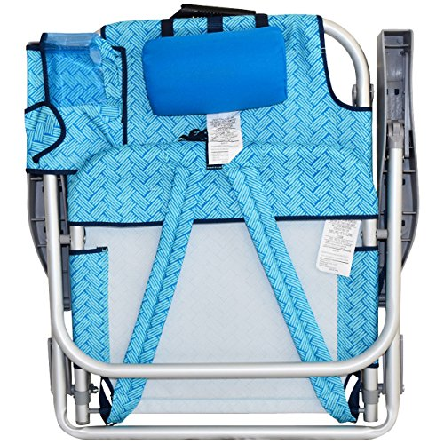 2 Tommy Bahama Backpack Beach Chairs/ Light Blue + 1 Medium Tote Bag by Tommy Bahama (Image #4)