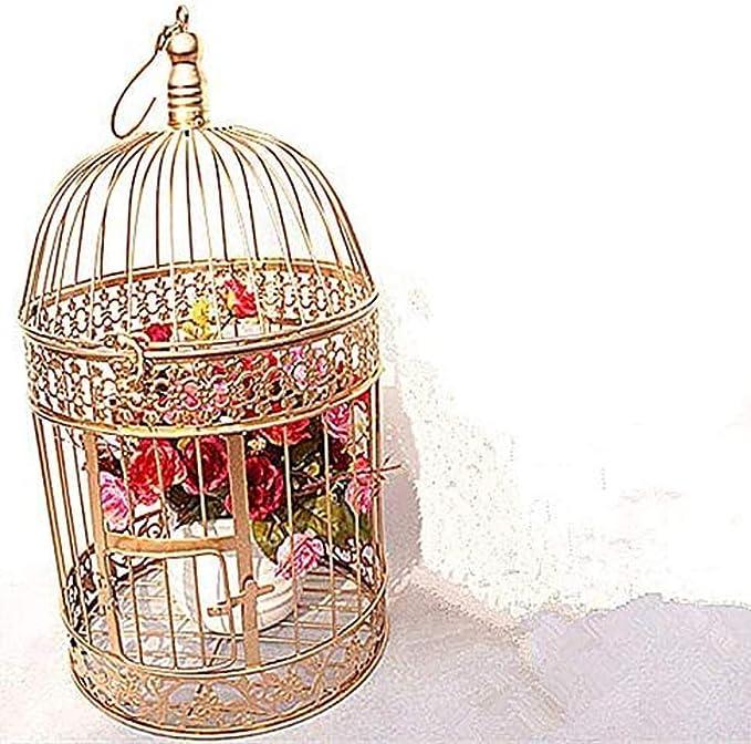 NanXi Hierro Jaula de pájaros, Jaula de pájaro de Hierro, decoración de la Boda, Adornos de Flores Jaula, puntales, Jaula de pájaros, estantería de Flores, Jaula de pájaros, 30 * 55cm