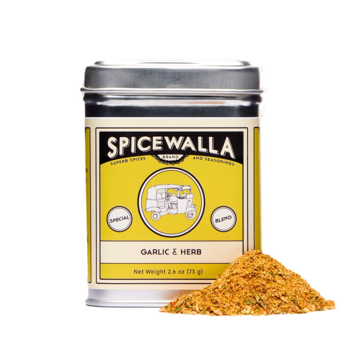 Spicewalla Garlic Herb Seasoning 2.6 oz   Salt Free, No MSG, Non GMO   Herbs and Spices Blend