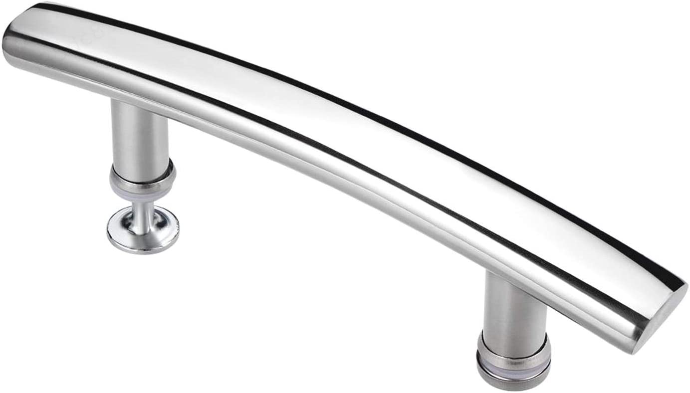 BERYLX Arc Shower Door Handle 304 Stainless Steel Polished 145mm Hole Center