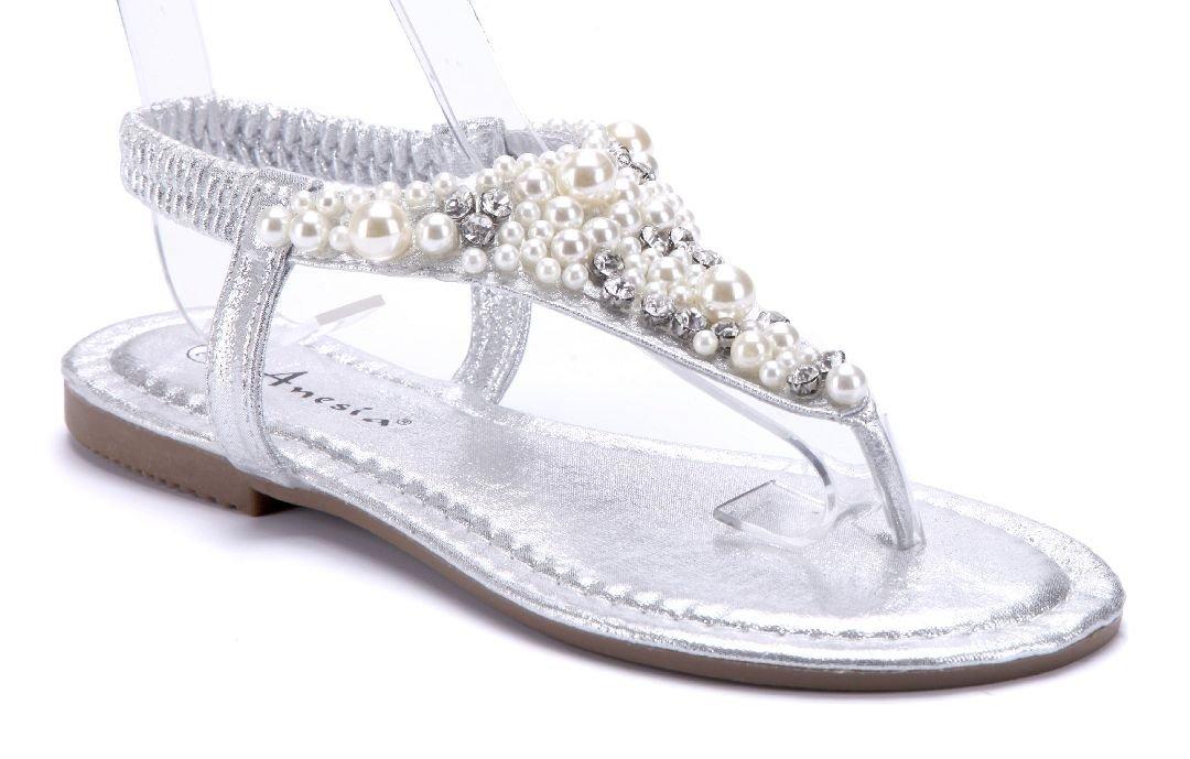 Schuhtempel24 Damen Schuhe Zehentrenner Sandalen Sandaletten Flach