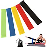 Future Exercise Resistance Loop Bands - Set of 5 ,12 inch Workout Bands With Handy Carry Bag Fit Simplify Best for Stretching Physical Therapy Yoga and Home Fitness