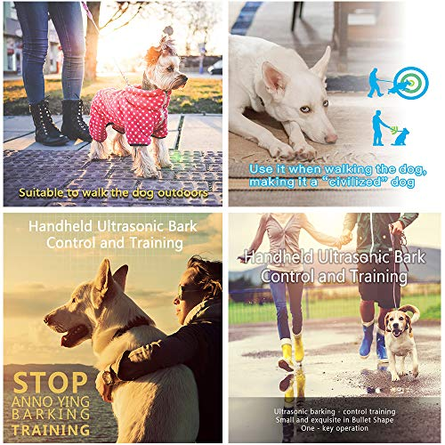 Weyio Handheld Dog Trainer Anti Barking Device Handheld ultrasonic Dog bark Deterrent with Wrist Strap Portable Dog Trainer with LED Indicator Light (Gray) by Weyio (Image #5)