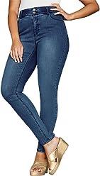 c7c986bb8e59d Jessica London Women s Plus Size Tummy-Control Skinny Jeans