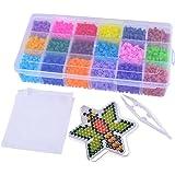 MJARTORIA Boite Perles à Repasser Racaille Kit Loisir Créatif Accessoires pour Bricolage Enfant Multicolore