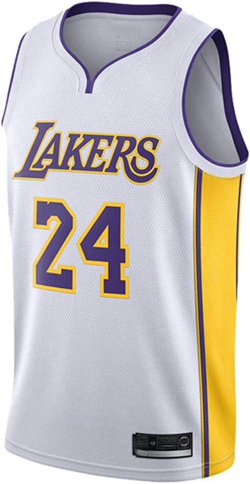 Hanbao Basketball Anzug Los Angeles Lakers 24# Bryant Atmungsaktiv Mesh Sport Trikot Classic Stickerei /ärmelloses Top Weste