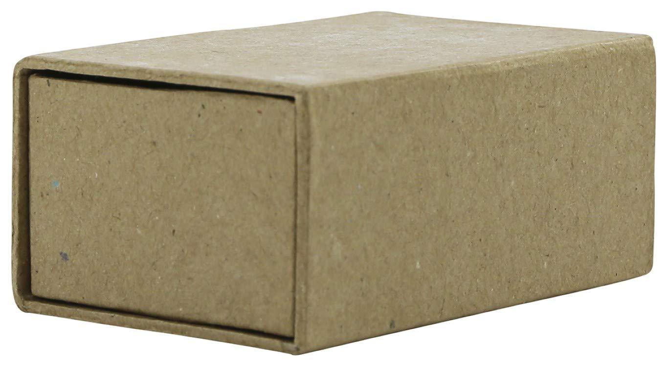 D/écopatch BT041C Streichholzschachtel aus Pappmach/é, Herzenform, zum Verzieren und Personalisieren, 6 x 9 x 4cm 1 St/ück kartonbraun