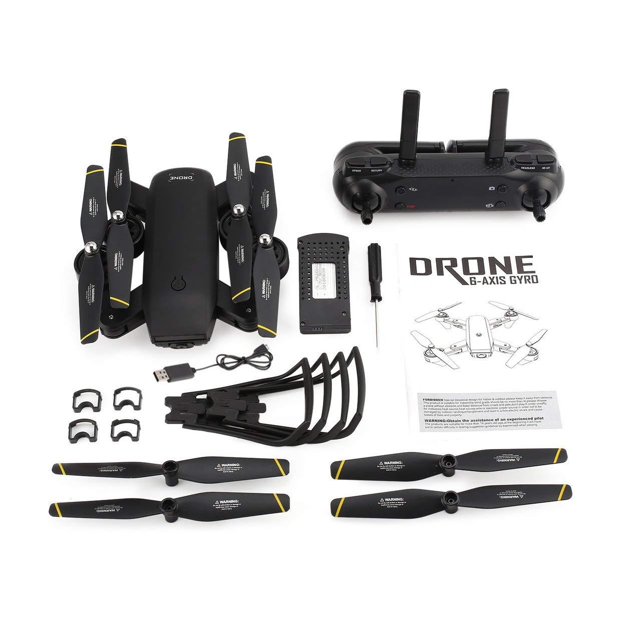 Lorenlli Für SG700 2,4G RC Drone Faltbare Quadcopter mit Kamera 720 P HD WiFi FPV Kamera mit Optischen Fluss Positionierung Höhe Halten Headless Modus 62637c