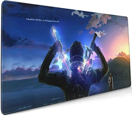 Soft Gaming Mouse Mat Ultra Thick 3mm Extended Large PHOEBE DOHERTY Darling in The FRANXX-Hero and Zero Two Young Anime Mouse Pad 15.7 X 35.4 Inch 40 X 90 cm