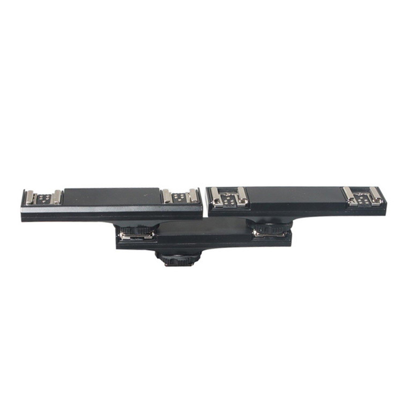 Selens Doble Zapata Montaje Soporte Hot Shoe de Flash Disparador Splitter para Canon DSLR C/ámara Speedlite Video Luz