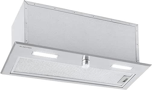 Klarstein Simplica 70 campana extractora - 70 cm de ancho, extracción de 400 m³/h, función de ventilación, botón giratorio, 3 niveles, iluminación LED de 1,5 W, acero inoxidable: Amazon.es: Hogar