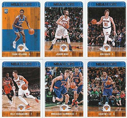 Joakim Noah Card (2017-18 Panini NBA Hoops New York Knicks Team Set of 11 Cards: Michael Beasley(#16), Tim Hardaway Jr.(#60), Carmelo Anthony(#99), Kristaps Porzingis(#100), Joakim Noah(#101), Ron Baker(#102), Willy Hernangomez(#103), Mindaugas Kuzminskas(#104), Courtney Lee(#105), Lance Thomas(#106), Frank Ntilikina(#258))