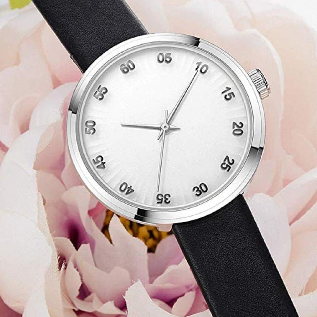 Scpink Relojes de Cuarzo para Mujer, Liquidación Relojes análogos de Moda para a la Venta Relojes para Mujer, Estuche Redondo con Esfera Reloj de Cuero ...