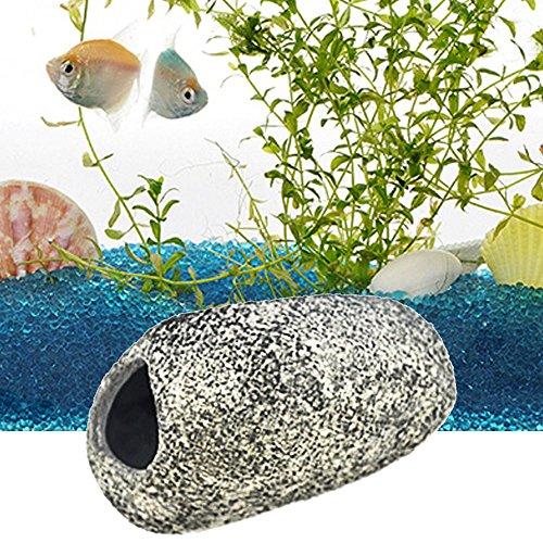 Pecera de peces de acuario tanque ornamento cíclidos Cueva escondite rocas piedra decoración del paisaje: Amazon.es: Hogar