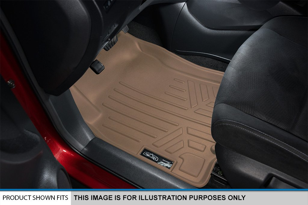 SMARTLINER Floor Mats 2 Rows and Cargo Liner Set Tan for 2007-2010 Ford Edge//Lincoln MKX MAXLINER A1085//B1035//D1047