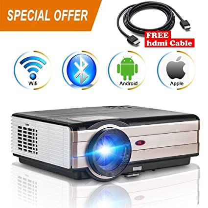 Amazon com: ZLMI Wireless Android Projector, LCD WiFi