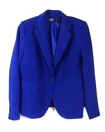 Zara 7647/851 - Chaqueta para Mujer Azul 34: Amazon.es: Ropa y ...