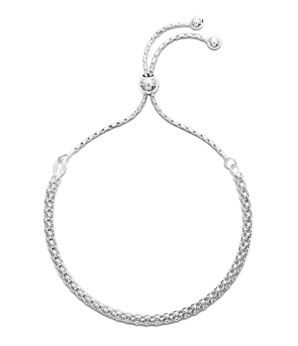 e83acf4cba41e Hatton Jewellery Womens 925 Sterling Silver Fancy Link Friendship Bracelet.  Fashionable Ladies Slider Bracelet, adjustable in size to fit your wrist ...