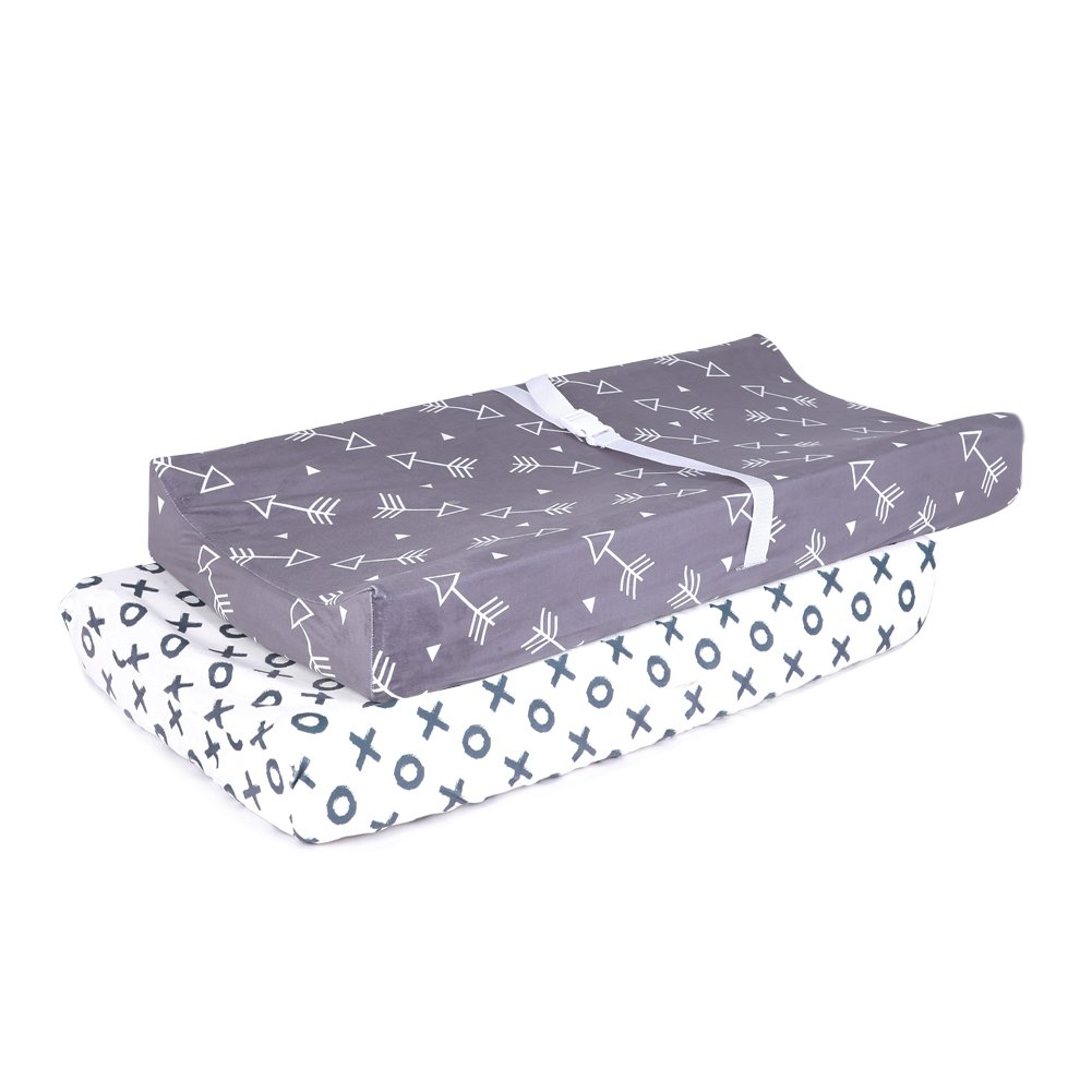 Changing Pad Cover for Both Girls and Boys Super Soft 2 Pack Set, Little Arrows and Circles Printed 16×32 SIBORUI YT005C