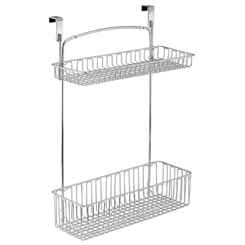 InterDesign Classico Over Cabinet Two Tier Basket, Chrome 50160