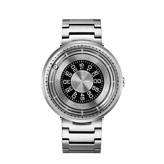 PAKITHEN Relojes Hombres y Mujeres Parejas Relojes de Cuarzo Neutral Moda Impermeable Auténtico Concepto Creativo Cinturón de Acero Reloj: Amazon.es: ...