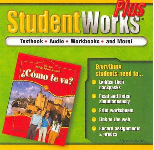 ¿Cómo te va? Intro Nivel rojo, StudentWorks Plus CD-ROM (MIDDLE SCHOOL SPANISH INTRO) (Spanish Edition)