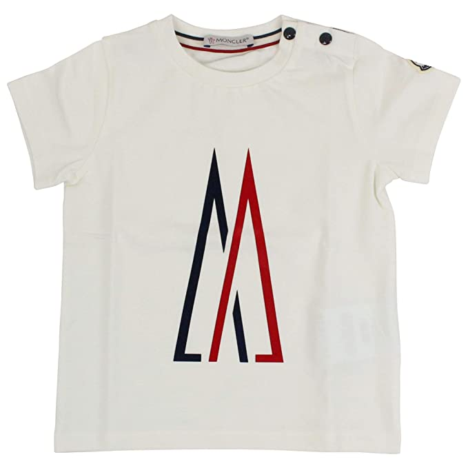 d604cac5d1 Amazon.com: Moncler Luxury Fashion Baby-Boys T-Shirt Summer White ...