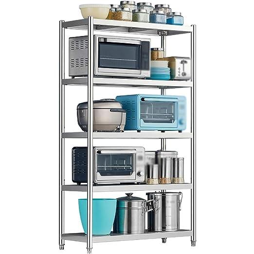 Shelf LYG Estantería de 5 estantes con Ruedas de Acero ...