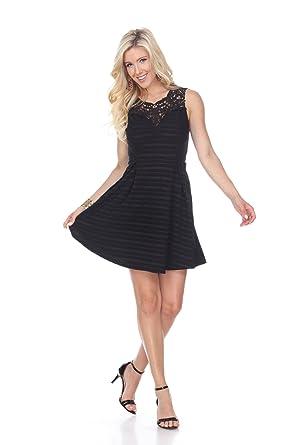 2694c497dcd WM Women s Stylish Taja Fit   Flare Dress at Amazon Women s Clothing ...